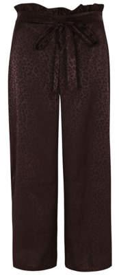 George Plum Leopard Print Jacquard Pyjama Bottoms