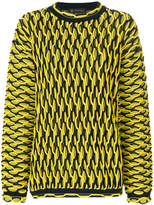 Versace oversized knit jumper