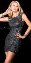 Scala Sequin Illusion Cocktail Dress