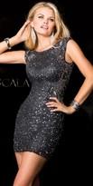 Scala Sequin Illusion Cocktail Dress