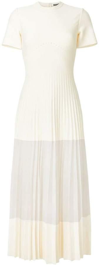 Alexander McQueen pleated long length dress