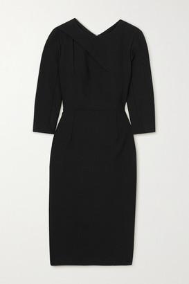 Roland Mouret Hisley Draped Crepe Dress - Black