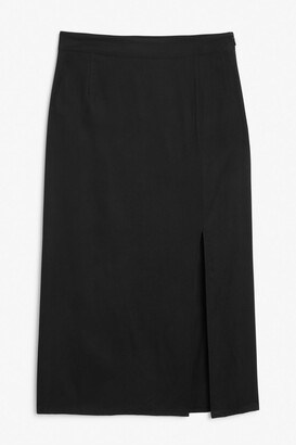 Monki Side slit midi skirt