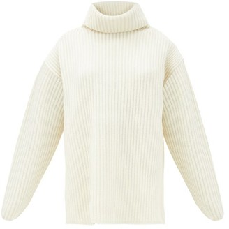 Joseph Brioche-stitched Wool Roll-neck Sweater - Ivory