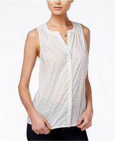 Maison Jules Sheer Foil-Print Top, Only at Macy's