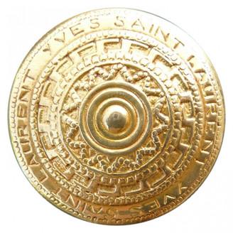 Saint Laurent Anneaux de foulards Gold Synthetic Scarves
