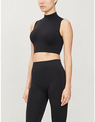 Lola Studio Turtleneck sleeveless stretch-recycled polyamide top