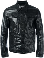 DSQUARED2 coated denim jacket - men - Cotton/Spandex/Elastane - 46