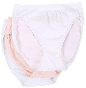 Jockey Comfies(r) Cotton French Cut 3-Pack (White/Shell White) Women's Underwear