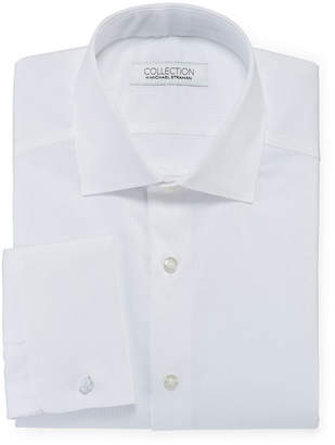 COLLECTION Collection by Michael Strahan Mens Spread Collar Long Sleeve Wrinkle Free Stretch Dress Shirt