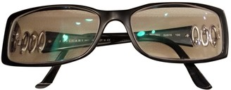 Bvlgari Black Plastic Sunglasses