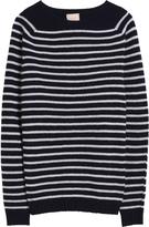 120% Lino Stripe Cashmere Sweater