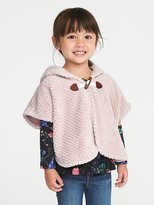 Old Navy Cozy Hooded Poncho for Toddler Girls