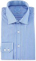 English Laundry Striped Long-Sleeve Dress Shirt, Blue/White