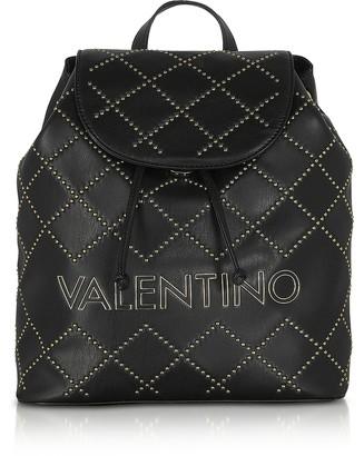 Valentino By Mario Valentino Mandolino Black Eco-Leather Studded Backpack