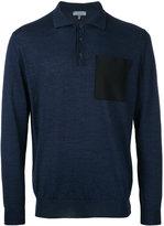 Lanvin patch pocket polo shirt