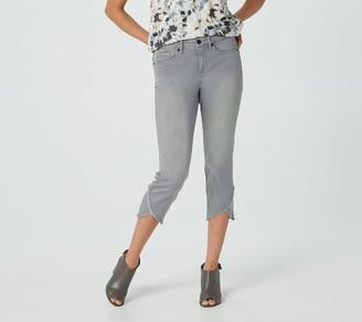 NYDJ Capri Jeans with Crisscross Hem - Shale