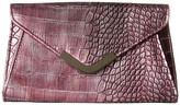 Jessica McClintock Lily Croco Small Envelope Clutch