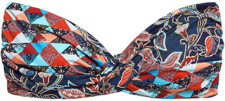 Jets Kindred Twist-front Printed Bandeau Bikini Top