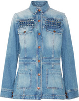 Current/Elliott The Festival Smocked Denim Jacket - Mid denim