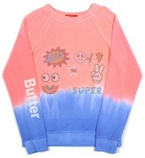Butter Shoes Girls' Dip-Dye Emoji Sweatshirt - Big Kid