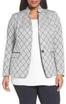 Lafayette 148 New York Plus Size Women's Alexis Woven Jacket