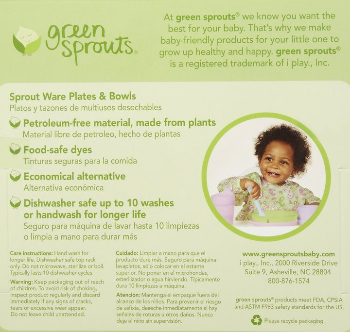 green sprouts by i play Sprout Ware Plate & Bowl Set - 2 pk - Girls