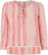 Suncoo Louna Long Sleeve Stripe Blouse