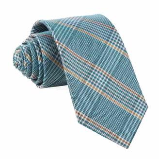 Tie Bar Bay Plaid Teal Tie