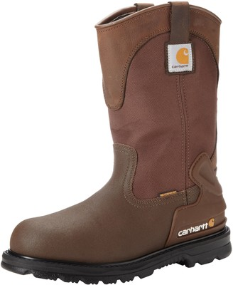 "Carhartt Men's 11"" Wellington Waterproof Steel Toe Leather Pull-On Work Boot CMP1270 Oil Tanned Cordura"