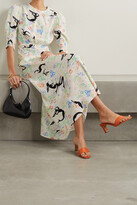 Thumbnail for your product : Rixo Lucile Printed Crepe Maxi Dress - White