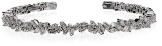 Suzanne Kalan 18K white gold and diamond shard bracelet