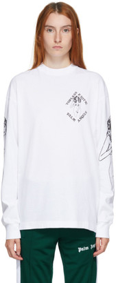 Palm Angels White Small Exotic Club T-Shirt