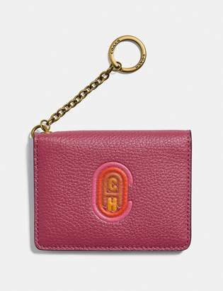 Coach Key Ring Card Case With Patch