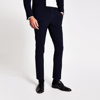 River Island Navy super skinny suit trousers