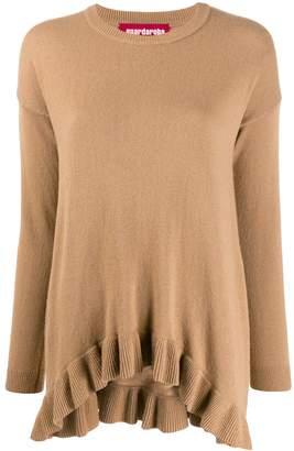 Guardaroba asymmetric hem fine knit sweater