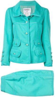 Chanel Pre-Owned Long sleeve setup jacket skirt