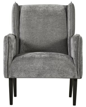Tommy Hilfiger Linden Wingback Chair Upholstery Color: Light Gray Crushed Velvet