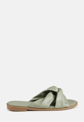 Missguided Sage Knotted Flat Sandals