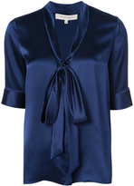 Carolina Herrera self tie blouse with elbow sleeves