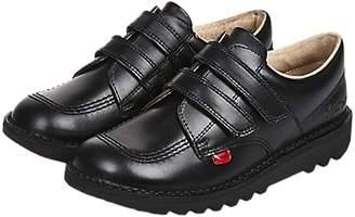 Kickers Children's Kick Lo-Top Riptape Shoes, Black