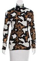 Kenzo Patterned Turtleneck Sweater