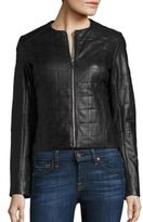 Dawn Levy Solid Leather Jacket