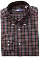 Izod Men's Regular Fit Tartan Buttondown Collar Dress Shirt