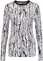Carven Printed stretch-jersey top