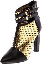 Machi Footwear Black And Gold Booties