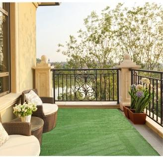 Ottomanson Evergreen Indoor/Outdoor Artificial Grass Turf Area Rug - 7'10'' X 9'10''