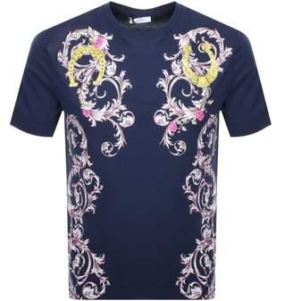 Versace Baroque T Shirt Navy