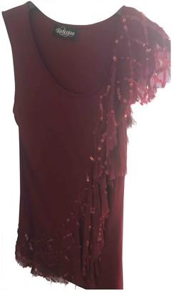 Religion Burgundy Silk Top for Women