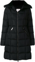 Moncler padded coat with fur collar